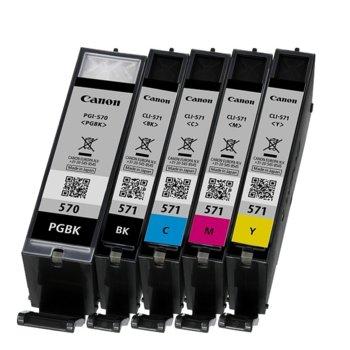 Мастило за Canon PIXMA MG5750, MG6850, MG7750- B/CMY - PGI-570/CLI-571 - P№ BS0372C004 - 1 105k image