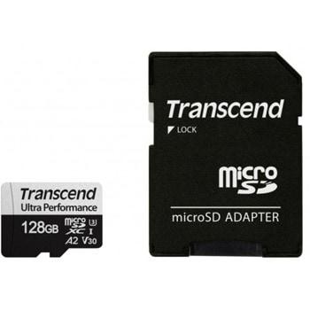 Карта памет 128GB microSDHC с адаптер, Transcend 340S, UHS-I U3, скорост на четене 160MB/sec, скорост на запис 125MB/sec image