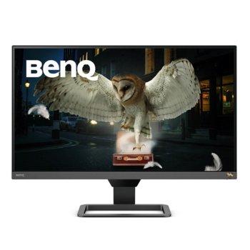 """Монитор BenQ EW2780Q (9H.LJCLA.TBE) в комплект със слушалки JBL Quantum 300, 27"""" (68.58 cm) IPS панел, 2K QHD, 5ms, 20,000,000 : 1, 350 cd/m2, DisplayPort, HDMI image"""