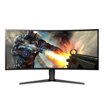 "Монитор LG 34GK950F-B, 34"" (86.36 cm) IPS панел, 144 Hz, QHD, 5ms, 1 000:1, 400cd/m2, DisplayPort, HDMI, USB 3.0 image"