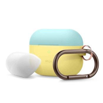 Калъф за слушалки Elago Duo Hang Silicone EAPPDH-CYE-CBLLU, за Apple AirPods Pro, силиконов, жълт-син image