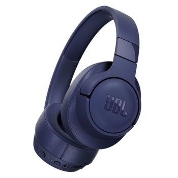 Слушалки JBL T750BT NC, безжични, Bluetooth, до 15 часа работа, сини image