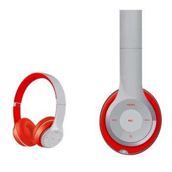 Слушалки Platinet Freestyle Headset FH0915, безжични, микрофон, microSD слот, сиви image
