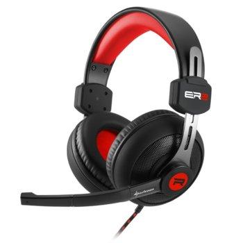 Слушалки Sharkoon RUSH ER2, микрофон, 20 Hz-20000 Hz, 92 dB ± 3 dB, черен/червен image
