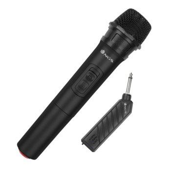Микрофон NGS Singer Air, безжичен, караоке, до 6 часа време на ползване, 6.3mm jack, черен image