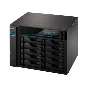 "Мрежови диск (NAS) Asustor AS7116RDX, четириядрен Intel Xeon Quad-Core E-2224 3.4GHz/4.6GHz, без твърд диск (16 x (2.5""/3.5"" SATA or SSD), 2xM.2 Slots (2280 NVMe SSD)), 8GB DDR4, 4x LAN10/100/1000, 4x USB 3.2 Gen 2 image"