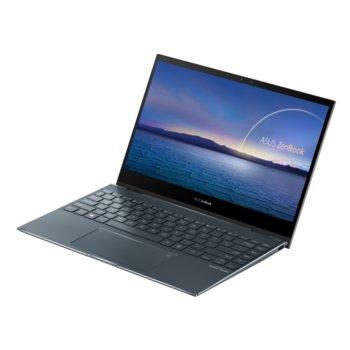 """Лаптоп Asus Zenbook Flip UX363JA-WB501R (90NB0QT1-M02210)(сив), четириядерен Ice Lake Intel Core i5-1035G1 1.0/3.6 GHz, 13.3"""" (33.78 cm) Full HD IPS Glare Touchscreen, (HDMI), 8GB DDR4, 512GB SSD, 2x Thunderbolt 3, Windows 10 Pro  image"""