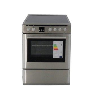 Готварска печка Finlux FLCM 6000A IX, 56 л. обем, 8 функции, керамичен плот, инокс image