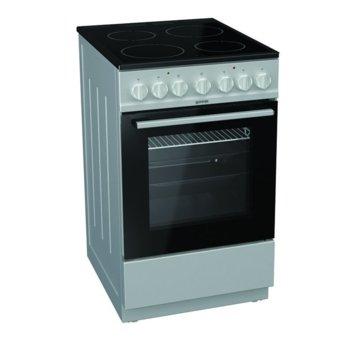 Готварска печка Gorenje EC5241SG, 62 л. обем на фурната, 4 нагревателни зони, механичен брояч, сив image