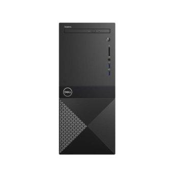 Настолен компютър Dell Vostro 3671 MT (N204VD3671EMEA01_R2005_22NM_U-14_8GB), четириядрен Coffee Lake Intel Core i3-9100 3.6/4.2 GHz, 8GB DDR4, 1TB HDD, 4x USB 3.1, Windows 10 Pro image