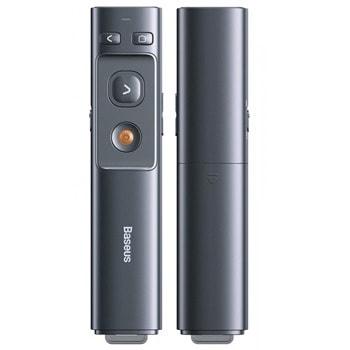 Лазерна показалка/презентатор Baseus ACFYB-0G, светлинен индикатор, до 100м обхват, сива image