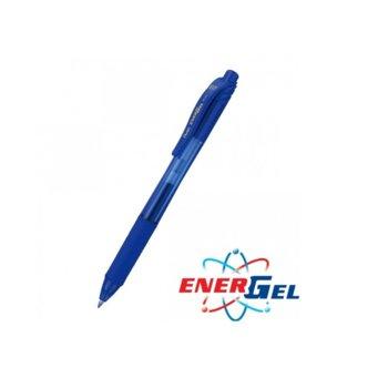 Автоматичен ролер Pentel Energel BL107, син цвят на писане, дебелина на линията 0.7 mm, гел, син, цената е за 1бр. (продава се в опаковка от 12бр.) image