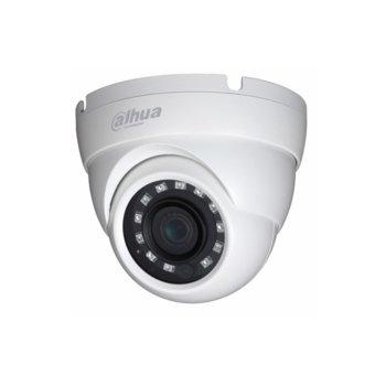 HDCVI камера Dahua HAC-HDW1200R-0280B, куполна камера, 2MP (1920×1080@30fps), 2.8 mm обектив, IR осветление (до 20m) image