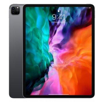 """Таблет Apple iPad Pro (4th Generation)(MXFA2HC/A)(сив), 4G/LTE, 12.9"""" (32.76 cm) Liquid Retina дисплей, осемядрен Apple A12Z Bionic, 6GB RAM, 1TB Flash памет, 12.0 + 10.0 MPix & 7.0 MPix камера, iPad OS, 643g image"""