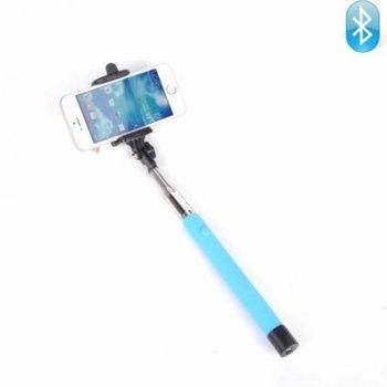 Селфи стик 5F Bluetooth Blue, Bluetooth, съвместим с Android и iOS, син image