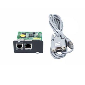 Адаптер за динстанционно управление ABB SNMP Card For PowerValue 11T G2, 1-3k only image