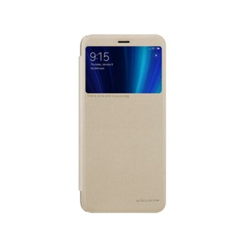 Оригинален калъф за Xiaomi Mi A2, кожа, Nilkin Sparkle XI394-Zlaten, златен image