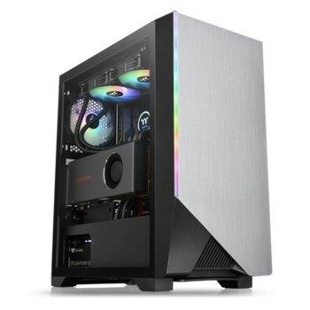 Кутия Thermaltake Level H550 TG ARGB, ATX/microATX/miniITX, 1x USB 3.0, 2x USB 2.0, 4мм темперирано стъкло, 1x 120mm ARGB вентилатор, черна, без захранване image