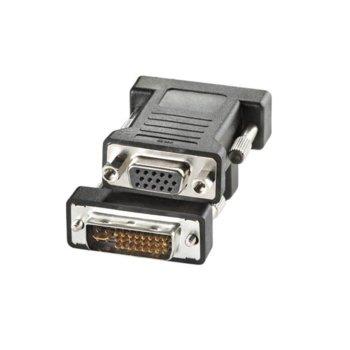 Преходник Roline, от DVI(м) към VGA(ж), черен image