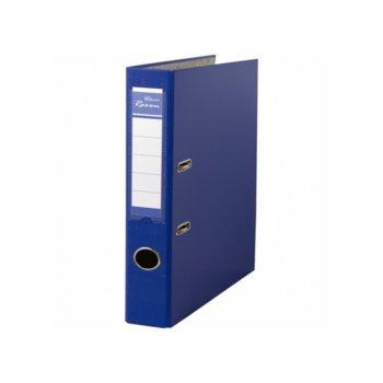Класьор Rexon, за документи с формат до A4, дебелина 5см, с метален кант, син image