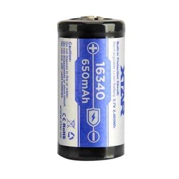 Акумулаторна батерия Xtar 16340 PCM, 16340, 3.7V, 1600mAh, Ni-Mh, 1 брой image