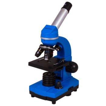Микроскоп Bresser Junior Biolux SEL 40–1600x, 40–1600x оптично увеличение, включен набор за експерименти, светодиоднo фоново осветление, син image