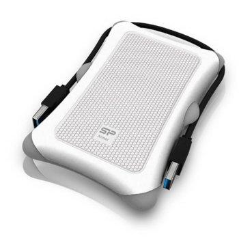 """Твърд диск 1TB Silicon Power Armor A30, бял, външен, 2.5"""" (6.35 cm), ударо-устойчив, USB 3.0, image"""