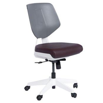 Работен стол Carmen SMART, Еко кожа, до 100 кг., какао image