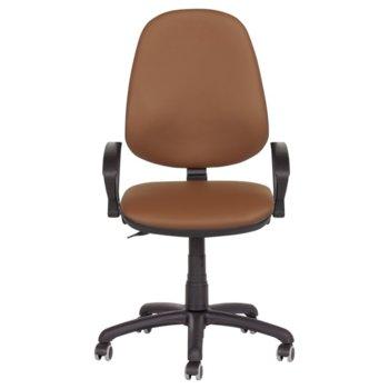 Офис стол Carmen Polo, с подлакътници, еко кожа, полипропилен, кафяв N image
