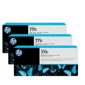 Мастило за HP DesignJet Z6200 - Photo Black - 771C - 3 Pack - P№ B6Y37A, 775ml image
