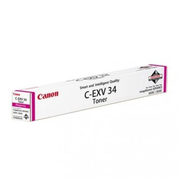Касета за Canon imageRUNNER ADVANCE Printers: C2020L, C2020i, C2030i, C2030L - Magenta - C-EXV34 - P№ 3784B002 - 19 000K image