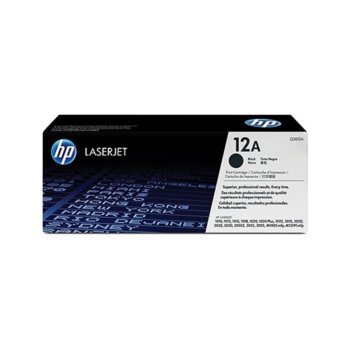 Касета за HP LaserJet 1012, 1018, 1020, 1022, 3015, 3020, 3030 printer series and 3050, 3052, 3055 AIO, M1319F MFP - Black - P№ Q2612AC - заб.: 2 000k image