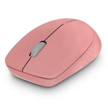 Мишка Rapoo M100 Silent, безжична (Bluetooth 4.0), оптична(1300dpi), USB, розова image