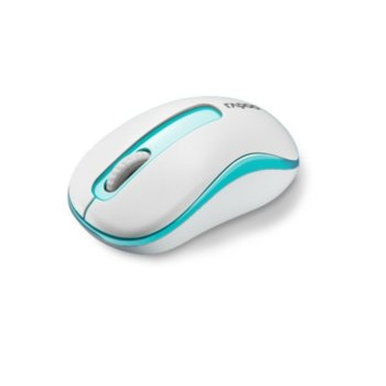 Мишка RAPOO M10, оптична (1000 dpi), безжична, 10м обхват, бяла, USB image