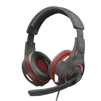 Слушалки Trust GXT 407 Ravu, микрофон, 3.5 мм жак, съвместими с PS4/Xbox One/Nintendo Switch, черни image