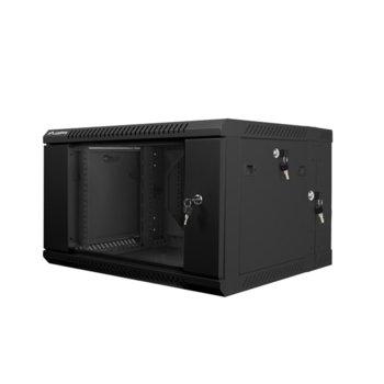 "Комуникационен шкаф Lanberg WF02-6606-10B, 19"", 6U, 600 x 600 x 374.3 mm, черен image"