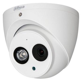 HDCVI камера Dahua HAC-HDW1200EM-A-0280B, куполна, 2 Mpix(1920x1080@30fps), 2.8mm обектив, IR осветеност (до 50м), външна IP67 image