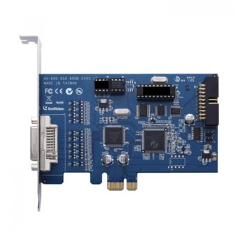 DVR платка GeoVision GV-800B/8, 1x DVI, PCIe x1, 120fps, MPEG4/H.264, до 8 видео канала image