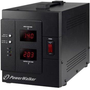 Стабилизатор PowerWalker AVR 3000 SIV, 3000 VA/ 2400 W, 1х Шуко, 230 VAC image
