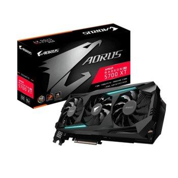 Видео карта AMD Radeon RX 5700 XT, 8GB, Gigabyte AORUS, PCI-E 4.0, GDDR6, 256bit, HDMI, DisplayPort image