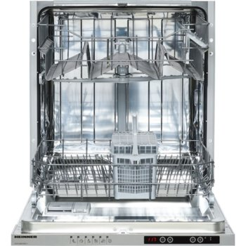Съдомиялна за вграждане Heinner HDW-BI6006IE++, клас E, 12 комплекта, 6 програми, защита от протичане, индикатор за сол, отложен старт, цикъл с половин зареждане, подвижен горен рафт, бяла image