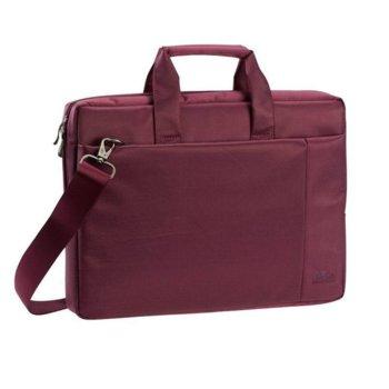 "Чанта за лаптоп Rivacase 8231 до 15.6"" (39.60 cm), полиестер, тъмно-червена image"