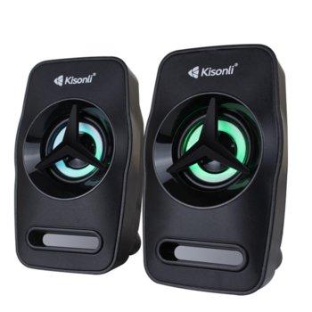 Мини Аудио Система Kisonli L-3030, 2.0, 2x3W, 3.5mm стерео, черен image