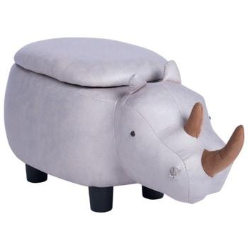 Табуретка Carmen, сив носорог image