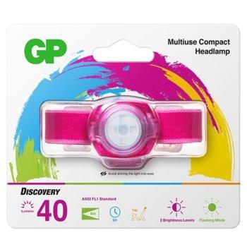 Челник GP Batteries CH31, 2x CR2025, 45lm, лилав image