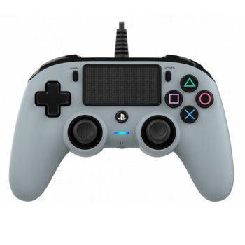 Геймпад Nacon Wired Compact Controller, жичен, Windows/PS4, USB, жак за слушалки, сив image