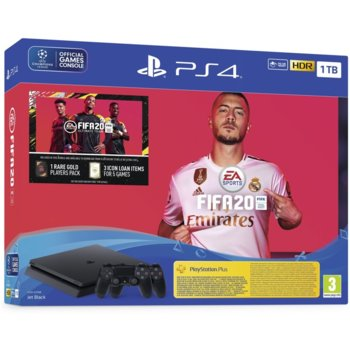 Sony PS4 Slim 1TB + FIFA 20 + DualShock 4 product