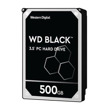 """Твърд диск 500GB WD Black Performance, SATA 6Gb/s, 7200rpm, 64MB, 3.5""""(8.89 cm) image"""