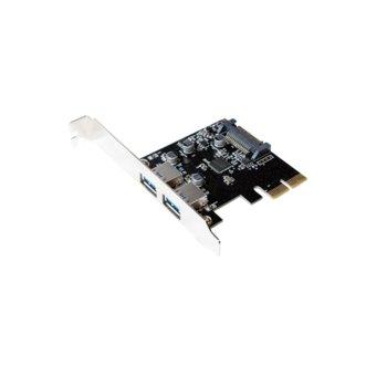 Контролер Logilink PC0080, от PCI Express към 2x USB A(ж) 3.1, до 10 Gbit/s трансфер image