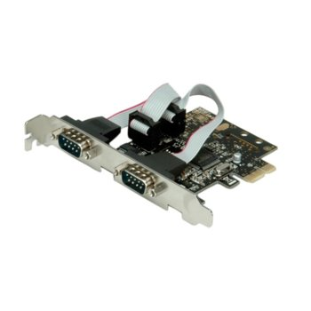 ROLINE 15.99.2118 :: VALUE PCI Express адаптер, 2x serial RS232 порта image